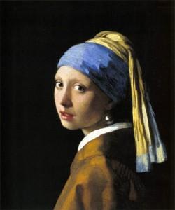 「真珠の首飾りの少女」(1665年)ヨハネス・フェルメール