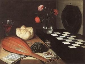 「チェス盤のある静物」(17世紀前半)リュバン・ボージャン