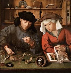 「両替商とその妻」クエンティン・マセイス