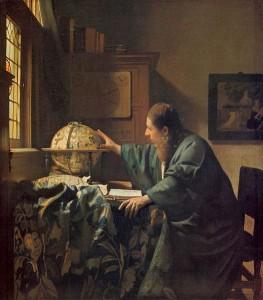 「天文学者」(1668年)ヨハネス・フェルメール