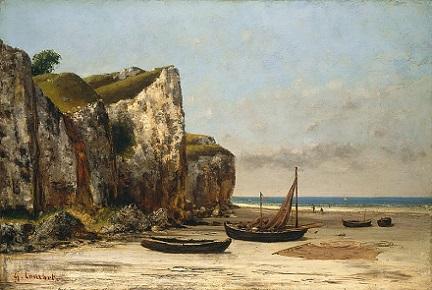 「ノルマンディーの海岸」(1872-75年)ギュスターヴ・クールベ