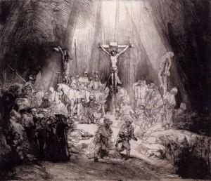 「The Three Crosses」(1653年)レンブラント・ファン・レイン