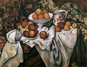 「リンゴとオレンジのある静物」(1895-1900)ポール・セザンヌ