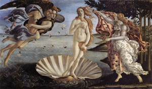 「ヴィーナスの誕生」(1485年)サンドロ・ボッティチェリ