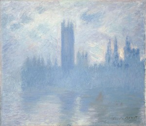 「国会議事堂 バラ色のシンフォニー」」(1900年)クロード・モネ