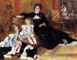 「シャルパンティエ夫人と子どもたち」(1878年)ルノワール