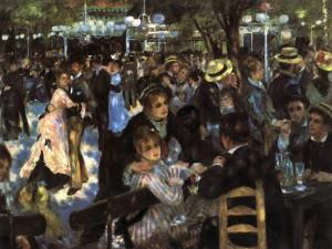 「ムーラン・ド・ラ・ギャレット」(1876年)ルノワール