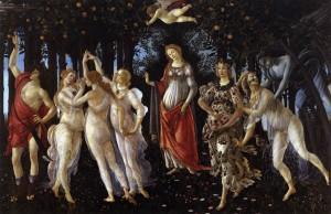 「プリマヴェーラ」(1477年)サンドロ・ボッティチェリ