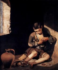 「蚤をとる少年」(1645年)ムリーリョ