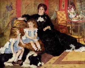 「シャルパンティエ夫人と子どもたち」(1878年)ピエール=オーギュスト・ルノワール