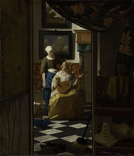 「恋文」(1669‐1670年頃)ヨハネス・フェルメール