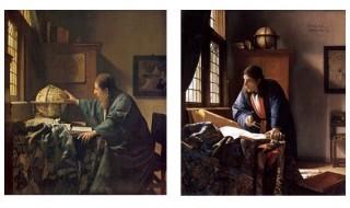 左:「天文学者」(1668年) / 右:「地理学者」(1668年)