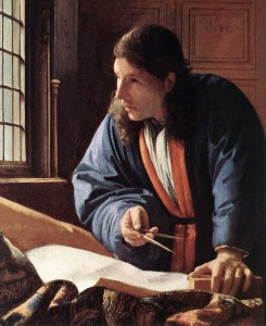 「地理学者」(1668年)ヨハネス・フェルメール
