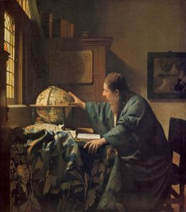 「天文学者」(1668年) ヨハネス・フェルメール