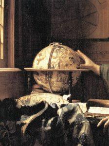 「天文学者(detail)」(1668年) ヨハネス・フェルメール