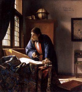 「地理学者」(1669年)ヨハネス・フェルメール