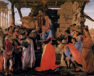 「ラーマ家の東方三博士の礼拝」(1475年頃)ボッティチェリ