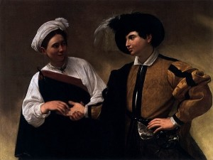 「女占い師」(1596年)カラヴァッジョ