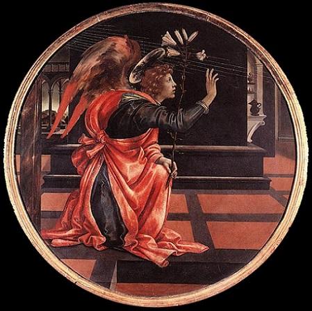 「受胎告知の大天使ガブリエル」(1483-84年頃)フィリッピーノ・リッピ