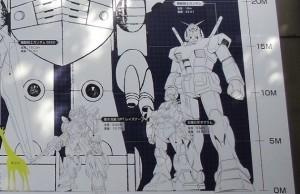 「メカニックデザイナー大河原邦男展」壁面のイラスト