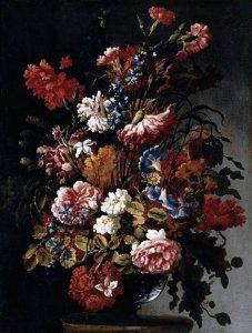 「花の静物」(1660年頃)パオロ・ポルポラ