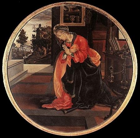 「受胎告知の聖母マリア」(1483-84年頃)フィリッピーノ・リッピ
