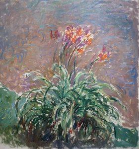 「キスゲの花」(1914‐17年)クロード・モネ