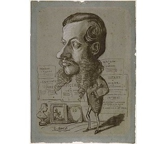 「Caricature of Leon Manchon」(1855~1856年)クロード・モネ