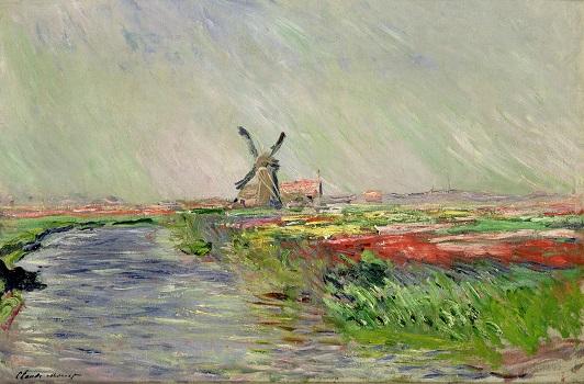 「オランダのチューリップ畑」(1886年)クロード・モネ
