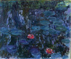 「睡蓮、柳の反映」(1916‐19年)クロード・モネ