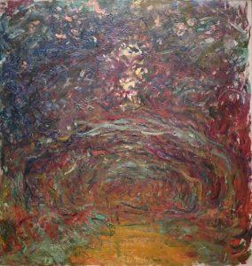 「バラの小道、ジヴェルニー」(1920‐22年)クロード・モネ