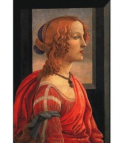 「美しきシモネッタの肖像」(1480-85年頃)ボッティチェリ