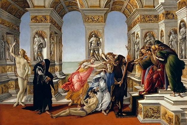 「アペレスの誹謗」(1494-96年頃)サンドロ・ボッティチェリ