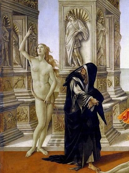 「アペレスの誹謗(detail)」(1494-96年頃)サンドロ・ボッティチェリ