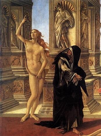 「アペレスの誹謗(detail)」(1494-96年頃)ボッティチェリ