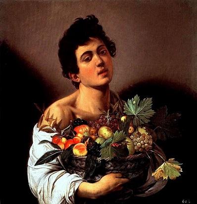 「果物籠を持つ少年」(1593‐1594年)カラヴァッジョ