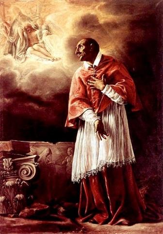 「聖カルロ・ボッロメーオ」(1611-12年)オラツィオ・ボルジャンニ