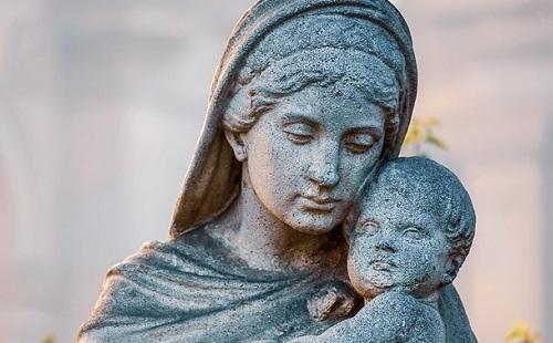 聖母子の像