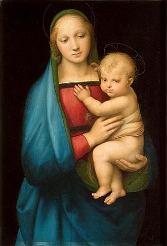 「大公の聖母」(1505-06年)ラファエロ・サンティ