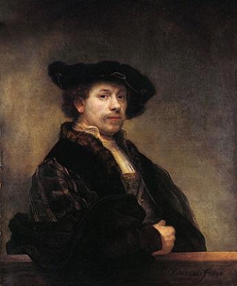 「自画像」(1640年)レンブラント・ファン・レイン