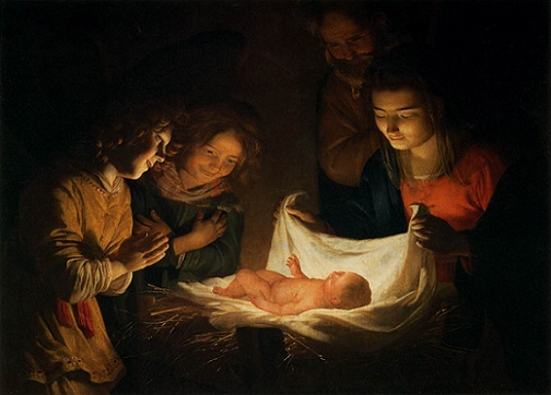 「キリストの降誕」(1620年頃)ヘリット・ファン・ホントホルスト