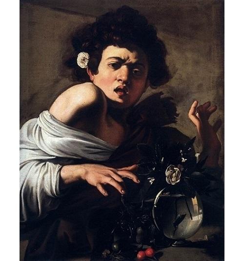 「トカゲに噛まれる少年」(1596年頃)カラヴァッジョ