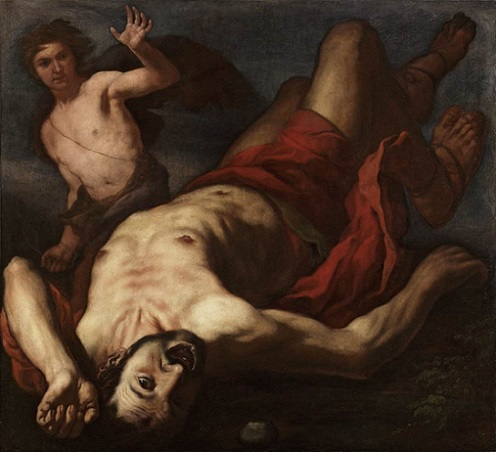 「ダビデとゴリアテ」(?)Antonio Zanchi(1631-1722)