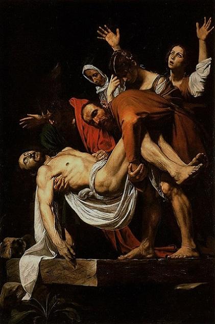 「キリストの埋葬」(1602年)カラヴァッジョ