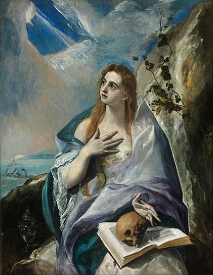 「悔悛するマグダラのマリア」(1576‐1577年)エル・グレコ