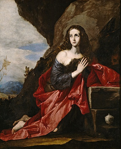 「悔悛するマグダラのマリア」(1641年)ホセ・デ・リベーラ