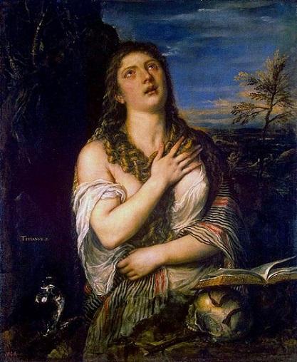 「懺悔するマグダラのマリア」(1565年頃)ティツィアーノ・ヴェチェッリオ