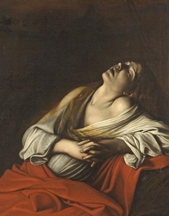 「法悦のマグダラのマリア」(1606年頃)カラヴァッジョ