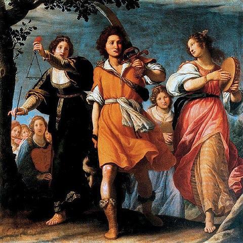 「ダヴィデの凱旋」(1620年)マッテオ・ロッセリ