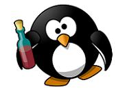 お酒で酔うペンギン